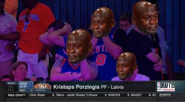 Jordan sad Knicks fans