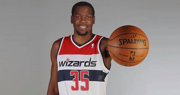 Kevin Durant fake Wizards jersey