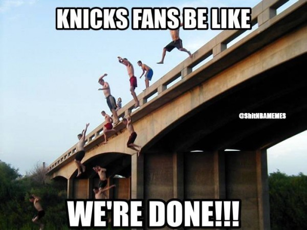 Knicks fans are done