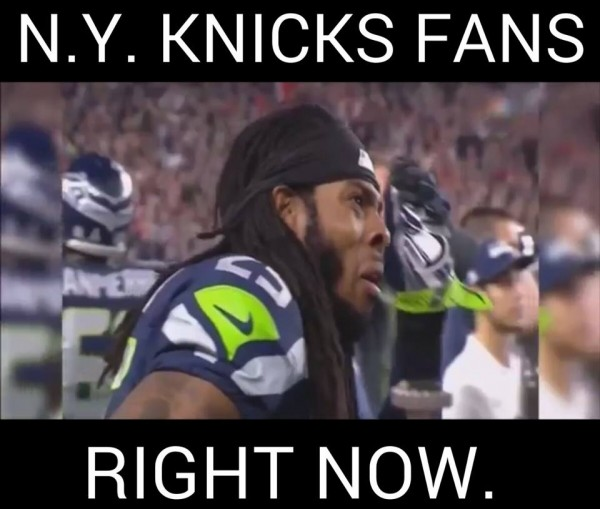 Knicks fans right now