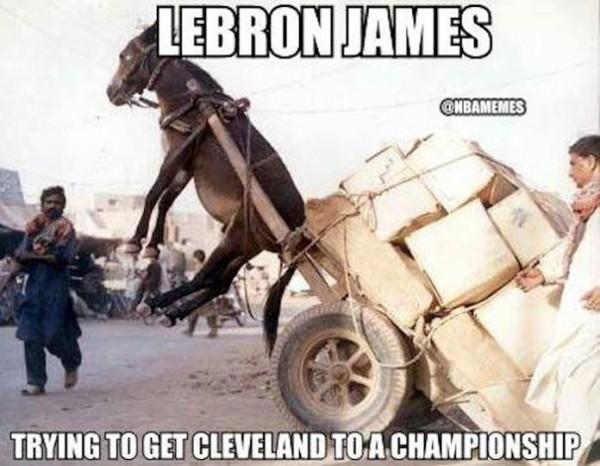 LeBron James trying meme