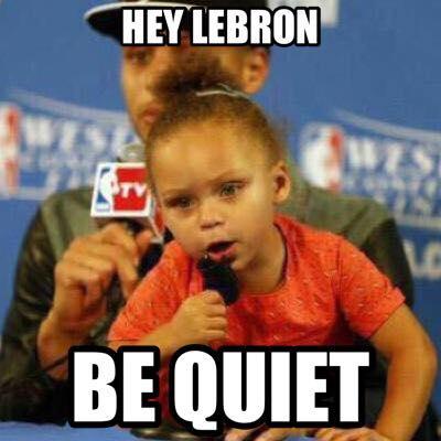 LeBron be quiet