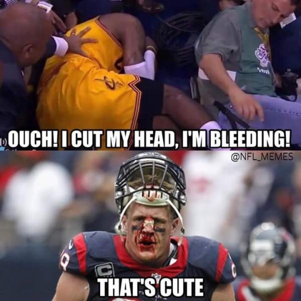 LeBron bleeding