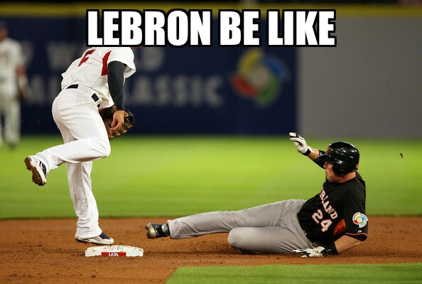 LeBron sliding