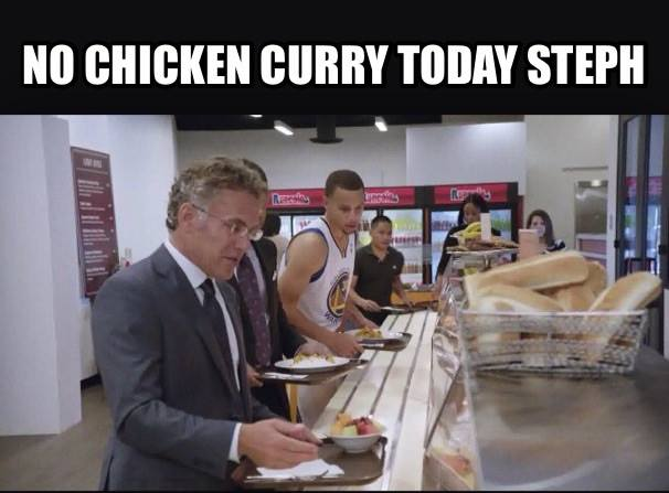 No chicken curry today
