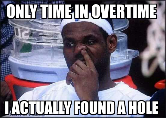 Only in overtime