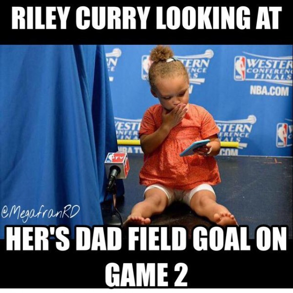 Riley Curry looking at Percentage