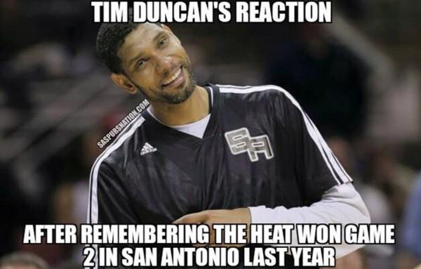 Tim Duncan's reaction