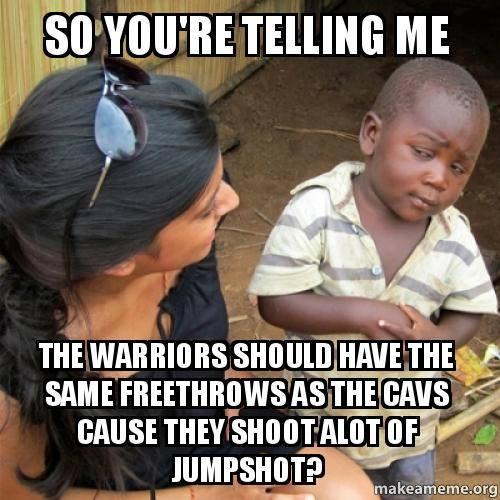 Warriors fans logic