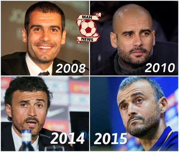 Pep Guardiola, Luis Enrique