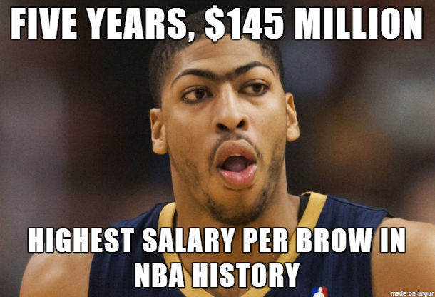 Anthony Davis Runibrow Meme professional athletes and celebrities in meme culture,Eyebrows Meme Internet
