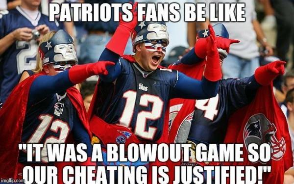 Patriots fans logic