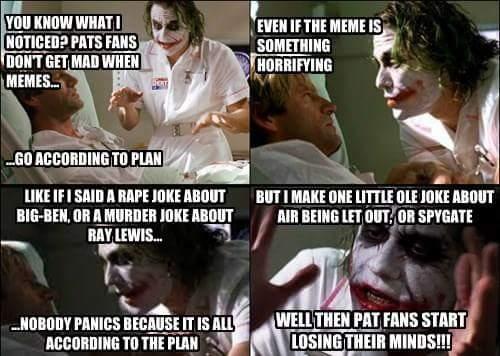 Pats fans logic