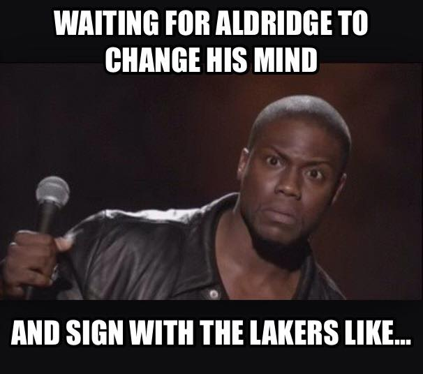 Waiting for Aldridge to change his mind