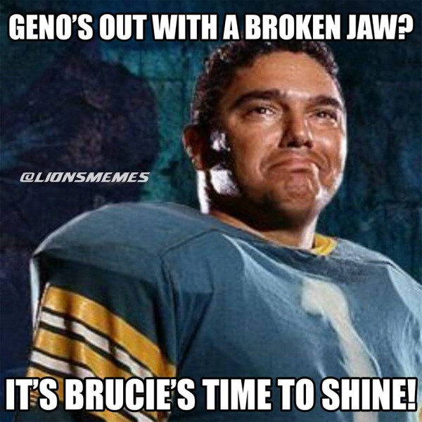 Brucie's time to shine