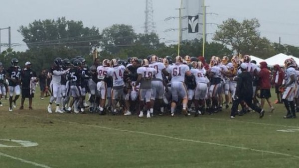 Redskins Texans Brawl