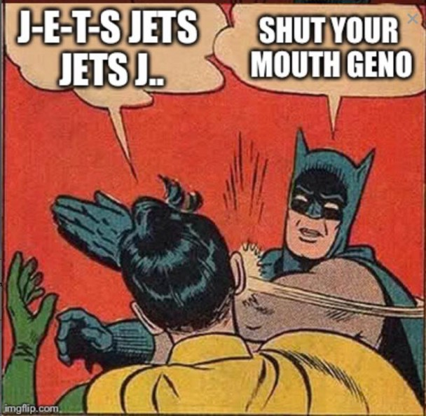 Shut your mouth Geno