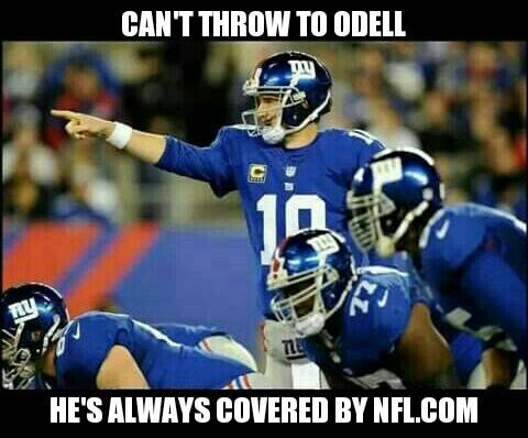 Can't throw to him