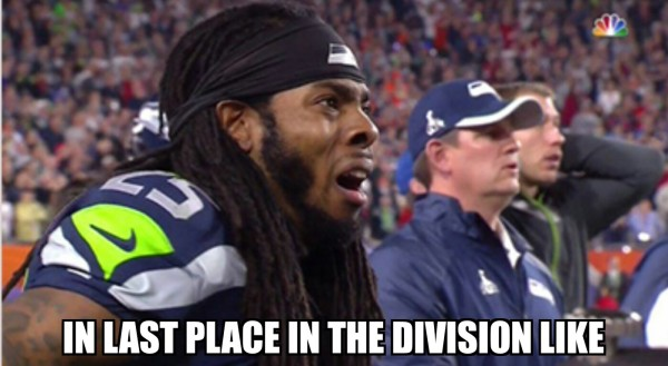 Last place in the division