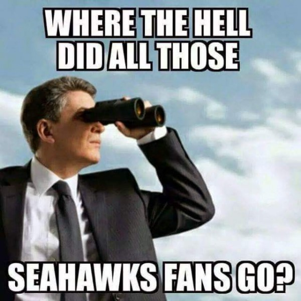 Looking for Seahawks fans