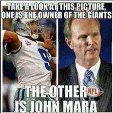 Owns the Giants