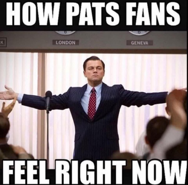 Pats fans right now