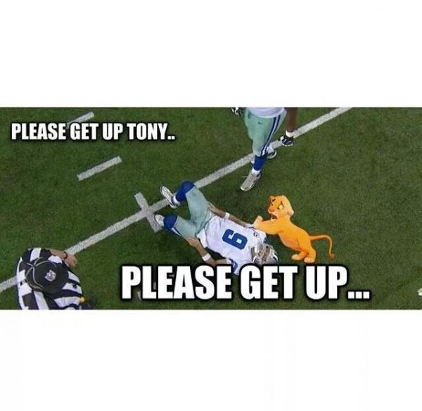 Plz get up Tony