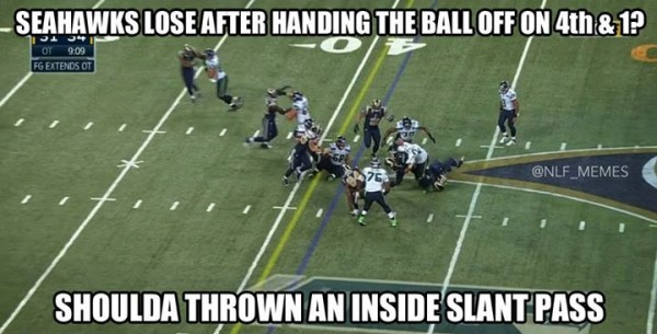 Shoulda thrown a pass
