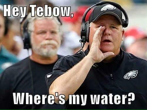 Tebow Water Boy