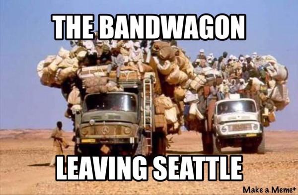 The bandwagon leaving Seattle