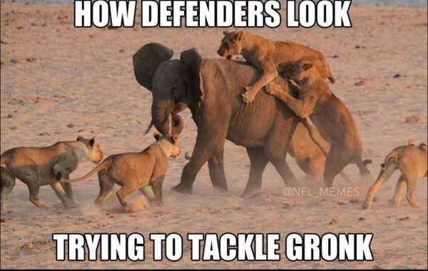 Trying to stop Gronk