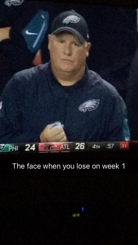 Week 1 losing face