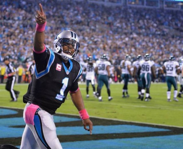 Cam Newton Panthers vs Eagles