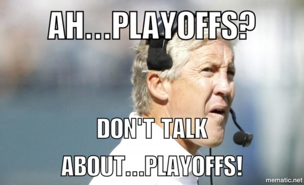 Don't talk about playoffs