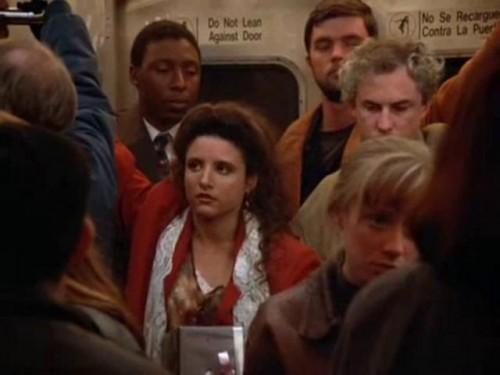Elaine on the Subway