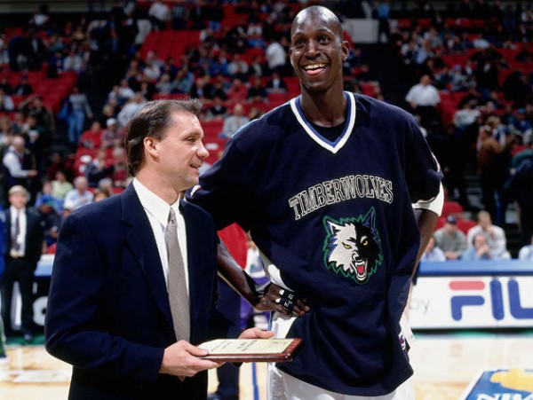 With Kevin Garnett during the good Timberwolves years