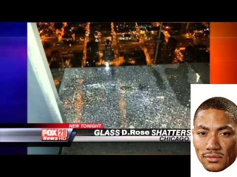 Glass shattersd