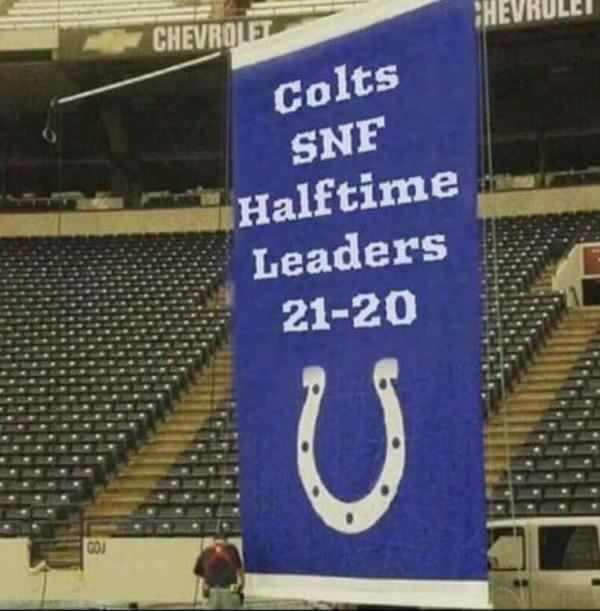 Halftime lead