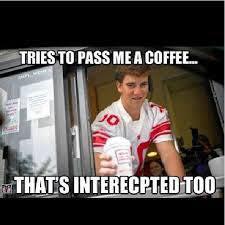 Intercepted coffee