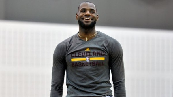 LeBron James in Practice