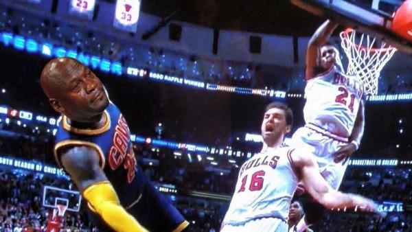 LeBron Jordan face