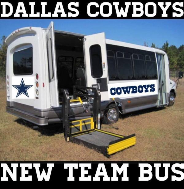 New Cowboys bus