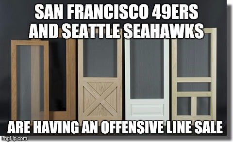 Offensive line sale