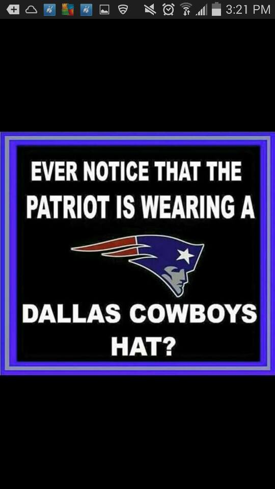 Patriots Cowboys hat