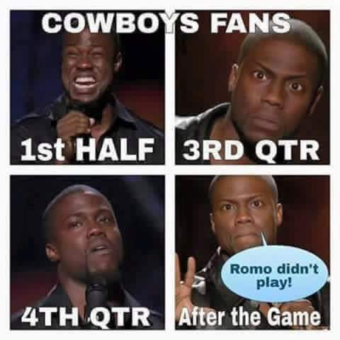 Romo didn't play