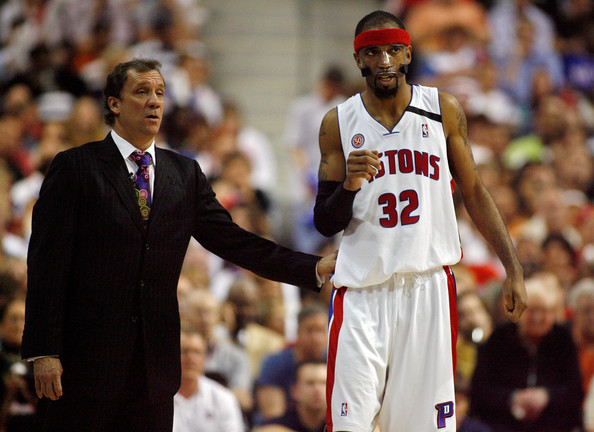 Saunders coached the Pistons to three consecutive conference finals