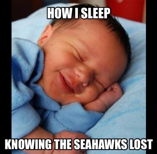Sleeping after a Seahawks loss
