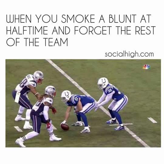 Smoking a blunt