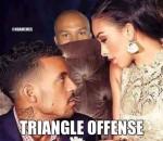 Triangle offense meme