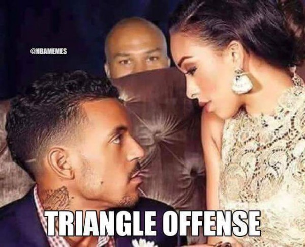 Triangle offense meme